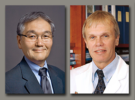 Wayne M. Yokoyama, MD, left, and Charles F. Zorumski, MD