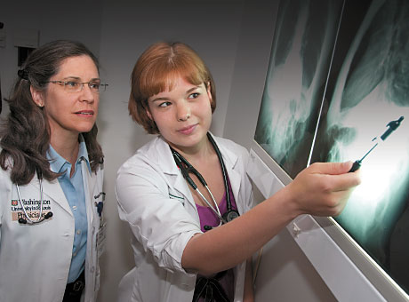 Tassy N. Hayden, right, and her mentor, Megan E. Wren, MD