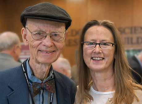 Joseph R. Williamson, MD 58, retired professor of pathology, and his daughter Ca