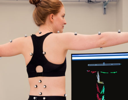 Physical therapy researchers use advanced technology to study movement in 3D. Cameras with near-infrared light capture motion-reflective markers placed on patients with musculoskeletal and neuromuscular disorders.
