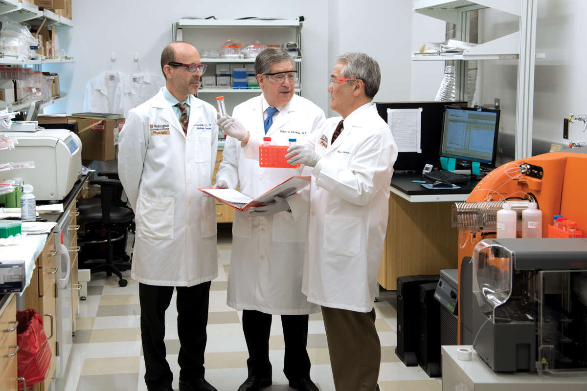 Michael S. Diamond, MD, PhD, Robert D. Schreiber, PhD, and Wayne M. Yokoyama, MD, lead a team of investigators working to develop immune-based therapeutics.