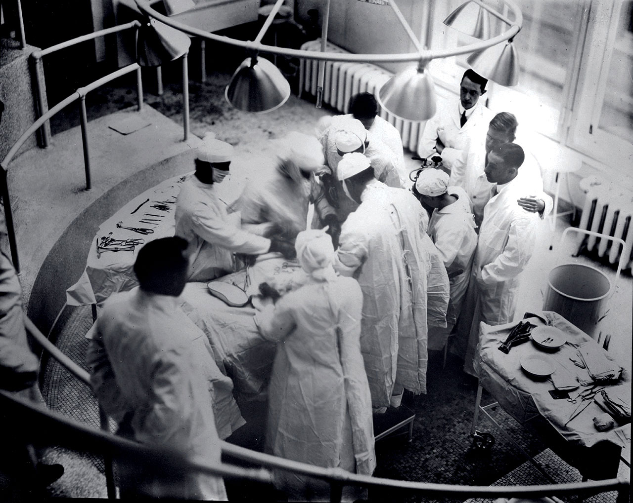 First surgery, an appendectomy, performed at Barnes Hospital, 1914.