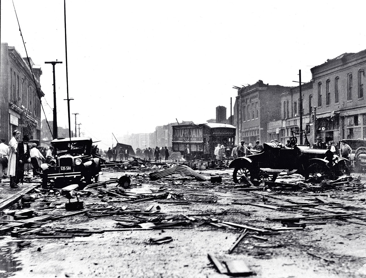 Tornado destruction in 1927.