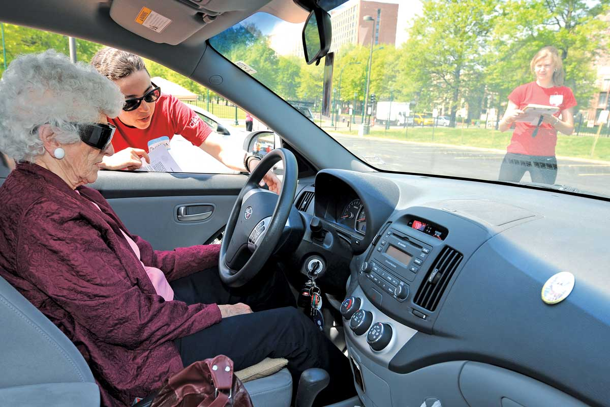 Teaching older adults how to properly adjust their vehicles to maximize safety.